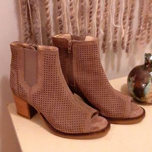 Open-toed booties